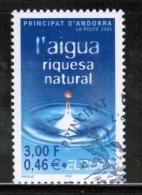 CEPT 2001 AD FR MI 567 USED ANDORRA FRANCE - 2001