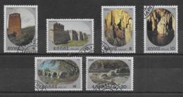 GRECIA - 1980 - SITI TURISTICI - SERIE CPL. 6 VAL. USATA (YVERT 1381/6 - MICHEL 1403/8) - Grecia