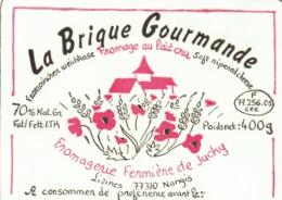Rare étiquette De Fromage La Brique Gourmande - Käse