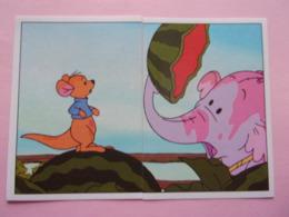 PANINI Winnie L'ourson Et L'éfélant Disney N°11 & 12 Kangourou éléphant Känguru Kangaroo Elefante Elephant - Panini