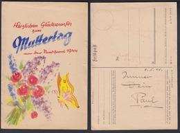 Feldpost Glückwunsch Zum Muttertag Von Der Nordfront 1944 Nicht Gelaufen  - Cartes Postales