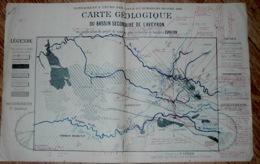Carte Géologique Mine Mines Bassin De L'Aveyron - Planches & Plans Techniques