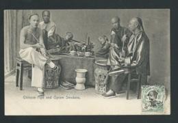HONG KONG - China - Chinese Pipe And Opium Smokers - Publ. Sternberg.   Obe35108 - China