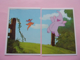PANINI Winnie L'ourson Et L'éfélant Disney N°119 & 120 Kangourou Känguru Kangaroo Elefante Elephant éléphant - Panini