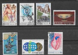 GRECIA - 1981 - AVVENIMENTI - SERIE CPL. 7 VAL. USATA (YVERT 1427/33 - MICHEL 1449/55) - Grecia