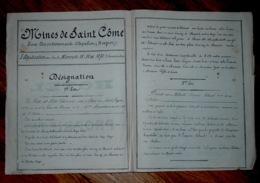 Vente Mines De Saint Côme Aveyron Publicité Adjudication Mine 1870 - Affiches