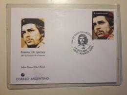 Argentine Fdc, 30ème Anniversaire De La Mort De Che Guevara 1997 - FDC
