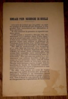 Notice Explicative Mine Mines Sondage De ROUILHOUSE- Saint Côme Aveyron - Documents Historiques