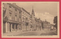 Soignies - Rue De La Station, à Gauche La Poste Et L'école Moyenne De L'état Pour Filles -1944  ( Voir Verso ) - Soignies
