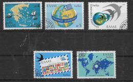 GRECIA - 1977 - EMIGRAZIONE ELLENICA NEL MONDO  - SERIE CPL. 5 VAL. USATA (YVERT 1269/73 - MICHEL 1297/1301) - Grecia