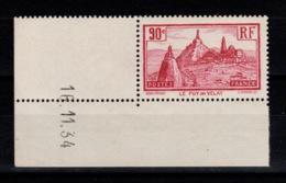YV 290 Puy En Velay N** Petit Coin Daté (trace De Charniere En Marge) Cote 7+ Euros - Frankreich