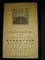 Jules VANDOYSEN Réserviste Au 56 ème Bataillon De Chasseurs à Pied Tué Aux Eparges Le 05 Avril 1915. - 1914-18