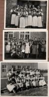 Lot De 3 Photos Originales Jeunes Femmes Allemandes Au Service Du III Reich Dans Leur Petit Tablier - Rires & Formation - Pin-Ups