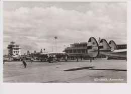 Vintage Rppc KLM K.L.M Royal Dutch Airlines Lockheed Constellation @ Schiphol Amsterdam Airport.version A - 1919-1938: Fra Le Due Guerre