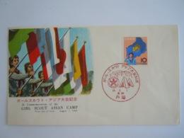Japan Japon 1963 FDC Girl Scout Asian Camp Jamboree Asiatique Féminin Drapeaux Yv 752 - FDC