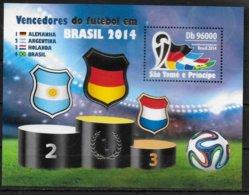 SAINT THOMAS ET PRINCE  BF 722   * *   ( Cote  14e ) Cup 2014  Football Soccer Fussball - Fußball-Weltmeisterschaft