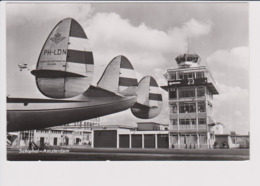 Vintage Rppc KLM K.L.M Royal Dutch Airlines Lockheed Constellation @ Schiphol Amsterdam Airport. - 1919-1938: Fra Le Due Guerre