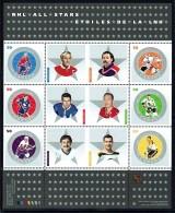 2005  Hockey Stars: Richard, Fuhr, Stanley, Pilote, Trottier, Bucyk  Souvenir Sheet Of 6 Different Sc 2085  MNH - Neufs