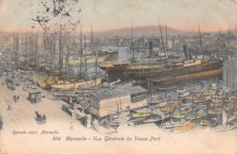 13 - Marseille - Un Beau Panorama Du Vieux Port - Carte Colorisée - ( Paquebots - Voiliers - Bateaux De Pêche ) - Vieux Port, Saint Victor, Le Panier