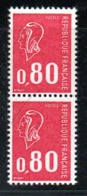 France / N 1816a /   0.80 F  X2   / NEUF **  / Côte 44 € - Unused Stamps