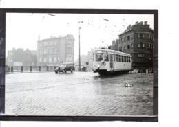 Photo Tram - Bruxelles - Anderlecht (Cureghem) Pont Du Canal (1960) - Anderlecht