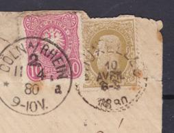 ESSAI POINTILLE DE BXL /  Lettre Du 10 Avril 1880  Voir Description - 1869-1888 Lion Couché