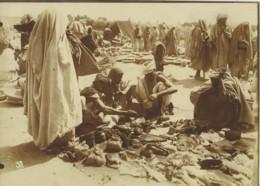 Maroc Marrakech Place Jemaa El-Fna Scene De Marche Ancienne Photo Felix 1915 - Afrika