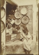 Maroc Marrakech Marchand Maroquinerie Magasin Ancienne Photo Felix 1915 - Afrika