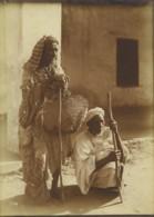 Maroc Marrakech 2 Vieux Hommes Mendiants? Aveugle? Ancienne Photo Felix 1915 - Afrika