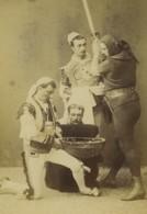 France Acteurs Scene De Theatre Execution Bourreau Ancienne Photo Carte Cabinet 1870 - Ancianas (antes De 1900)