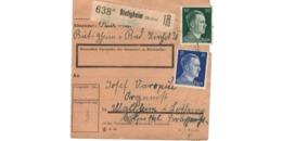 Colis Postal  / De Bietigheim / Pour Waldheim - Alemania