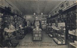 1908 , SUDAFRICA , TARJETA POSTAL CIRCULADA , KOWIE WEST , GROCOTT & SHERRY'S NEW STATIONERY - GRAHAMSTOWN - Sudáfrica