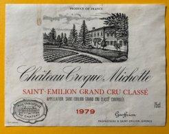 11691 -  Château Croque Michotte 1979 Saint-Emilion - Bordeaux