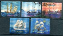 Mutawakelite Kingdom Of YEMEN - Mi 1060** à 1064** (série Complète)(bateaux) - Yemen