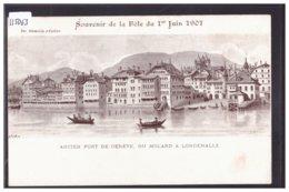 GENEVE - FÊTE DU 1er JUIN 1901 - TB - GE Geneva