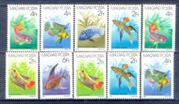 G118- Hungary Magyar 1987 Aquarium Fish Fauna. Marine Life. - Fishes