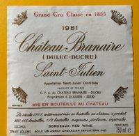 11692 -  Château Branaire 1981 Saint-Julien - Bordeaux