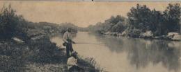 1908 , SUDAFRICA , TARJETA POSTAL CIRCULADA , MODDER RIVER , VIEW UP THE MODDER RIVER , PESCA , FISHING - Pesca