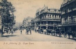 1907 , SUDAFRICA , TARJETA POSTAL CIRCULADA , PLUNSTEAD , ADDERLEY ST. - CAPE TOWN - Sudáfrica