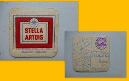 Art Postal 1964, Sous-bock Bière Stella Voyagé De Bruxelles Pour Bordeaux ; PAP06 - Curiosités: 1960-69 Lettres & Documents
