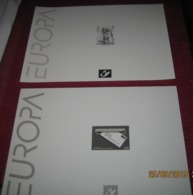 België:  2 Zwart-wit Velletjes EUROPA / 2 Feuilles Noir Et Blanc / 2 Black & White Sheets Europe - Feuillets Noir & Blanc