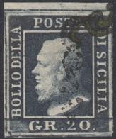 Sicilia, 20 Grana N.13 Bdf Certificato E,Diena + Certificato Avi , Lusso Cv 1650 - Sicilia
