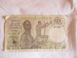 Afrique Occidentale Française: 10 Francs 1953 - West-Afrikaanse Staten
