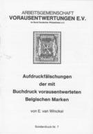 Preo, Precancel, Voorafstempelingen, Broschüre Aufdruckfälschungen Der Mit Buchdruck Vorausentwerteten Belgischen Marken - Préoblitérés
