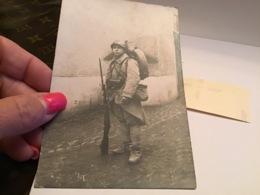Photo Carte Homme Militaire Avec Son Barda Et Son Fusil à La Main Vosges - Plaatsen