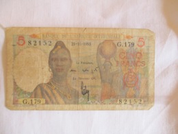 Afrique Occidentale Française: 5 Francs 1953 - West-Afrikaanse Staten