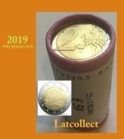 """Latvia 2019 NEW!!! 2 Euro ROLLE ( 25*2 EURO ) """" THE RISING SUN """" - Letonia"""