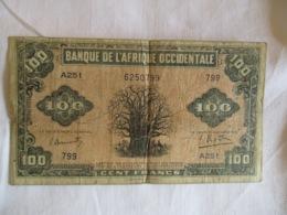 Afrique Occidentale Française: 100 Francs 1941 - West African States