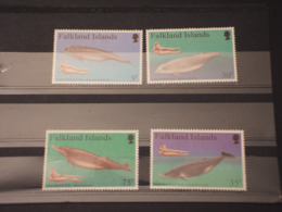 FALKLAND - 1996 BALENE 4 VALORI - NUOVI(++) - Falkland