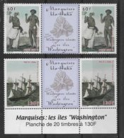 VV5- Polynésie Française- PO 767/768** De 2006 Paires Vignette Centrale - Homme Et Femme De Ua-Huta Et Voilier-Marquises - Polynésie Française